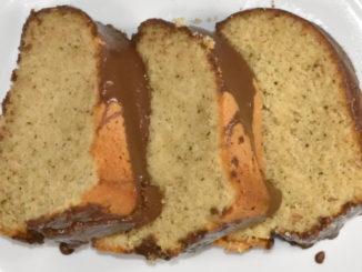 Das gibt's nur auf Veggie Tobi - grüner Tee in Form eines leckeren Rührkuchens !