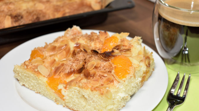 Absolut gelungen... mein Kokos-Mandarinen-Blechkuchen hat einen besonders luftig-lockeren Teig. Zum Anbeißen.