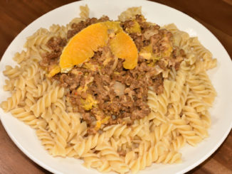 Herzhaft trifft fruchtig - Sojahack meets sonnige Orange... außergewöhnlich lecker !