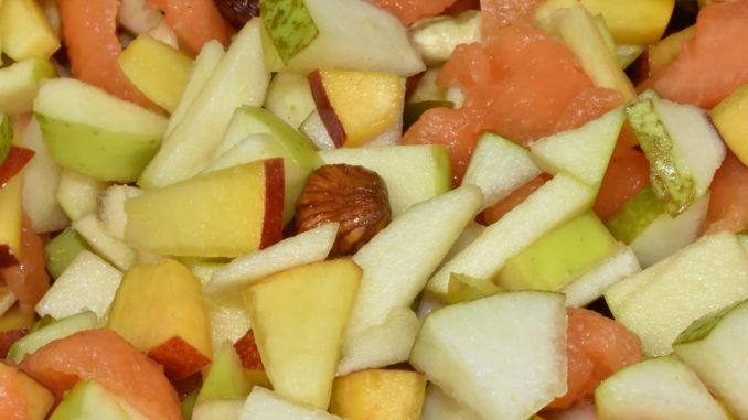 Obstsalat mit Cantaloupe-Melone