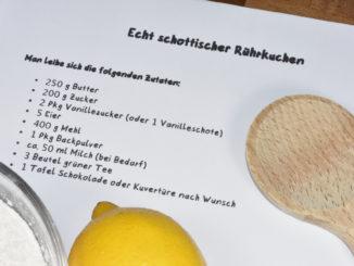 Was sich der Autor dieses Kuchenrezepts wohl gedacht haben mag ?