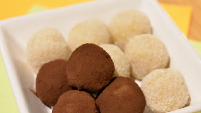 Schmecken zu zweit noch besser: Meine hellen und dunklen Marzipankartoffeln!
