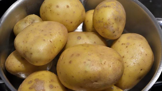 Kartoffeln im Dämpf-Kochtopf