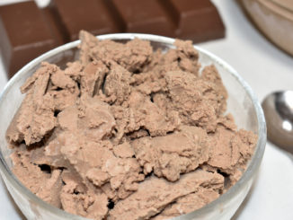 Mein selbstgemachtes Schokoeis... mit viel Kakao und echter Vanille - für die Extraportion Genuss!