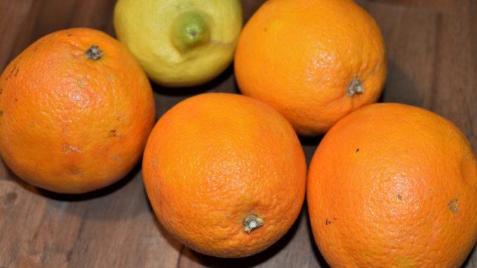 Orangen und Zitrone - Südfrüchte für ein nordisches Getränk   Ich empfehle Dir Saftorangen, da diese besonders viel Flüssigkeit enthalten. Bei der Zitrone solltest Du auf eine unbehandelte Schale achten.